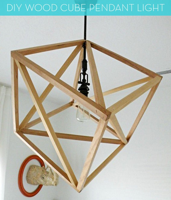 25 Beautiful Diy Wood Lamps And Chandeliers That Will Light
