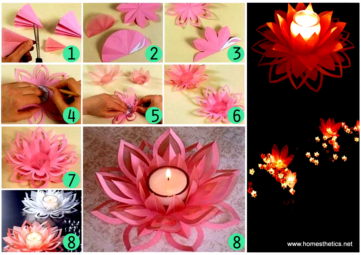 Creative DIY Paper Lotus Candlestick Project [Video Included]