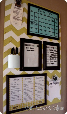 Vintage Looking Organizational Board