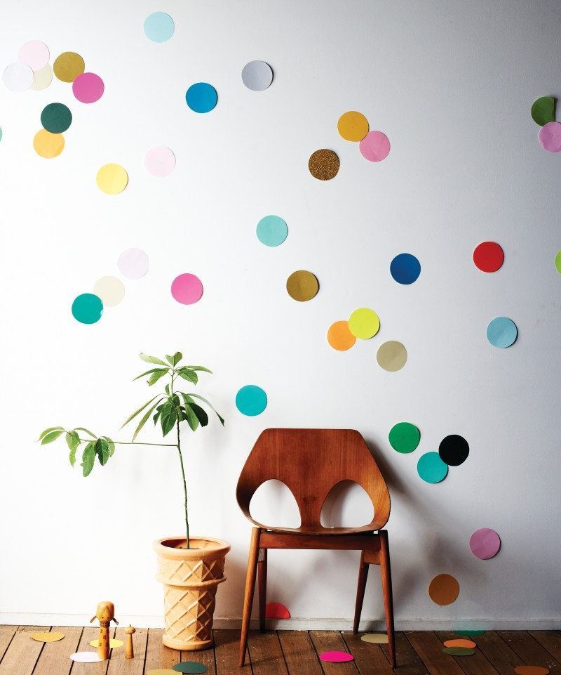 Giant Confetti Wall Beautifying Through Color