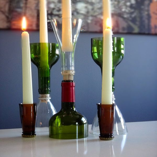 24 Dazzling DIY Wine Bottle Centerpieces Ideas