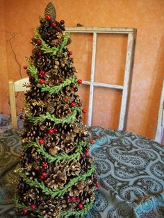 65 simply magical diy pinecones projects that will beautify your christmas decor homesthetics 2 - Pine Cone Christmas Tree Decorations