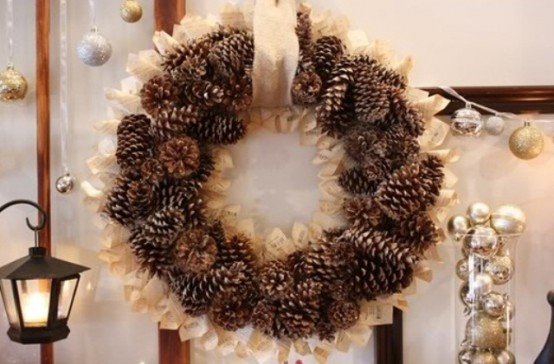 65 simply magical diy pinecones crafts that will beautify your christmas decor homesthetics 32 - Homemade Pine Cone Christmas Decorations
