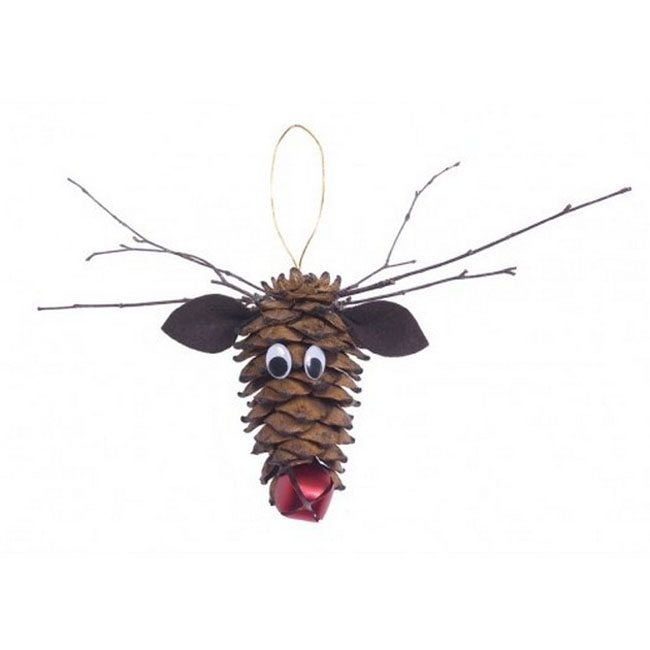 Reindeer Pinecone Craft