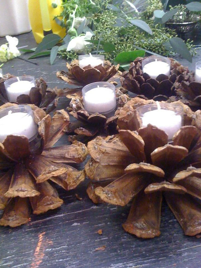 Pinecone Votives