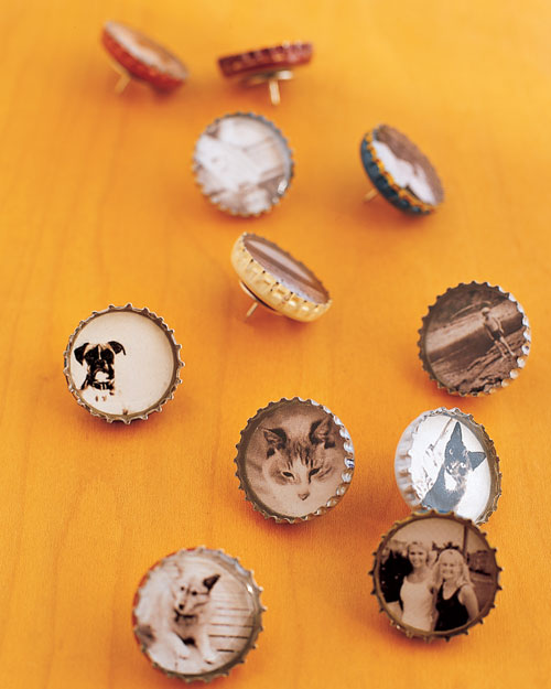 bottle cap Decorated thumbtacks and magnets