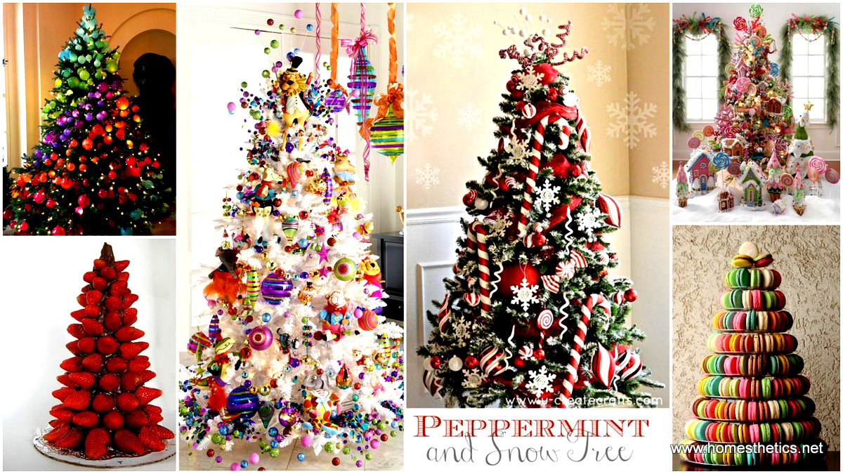 Colorful Christmas Tree Decorations.The Most Colorful And Sweet Christmas Trees And Decorations