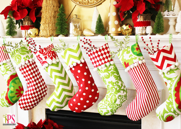 create jolly and magical diy christmas stockings that will enchant your christmas homesthetics 3 - Red And Green Christmas Stockings