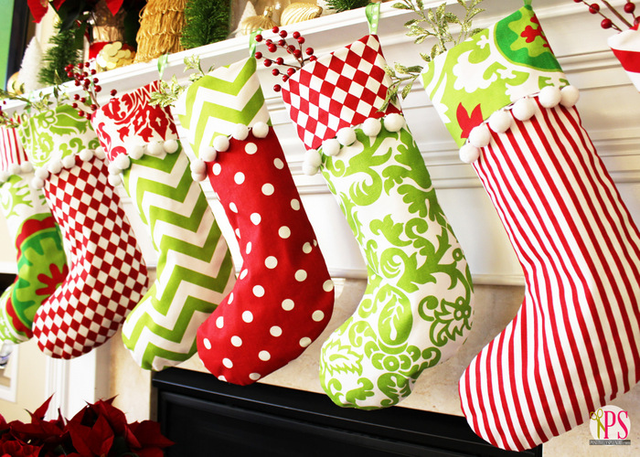 create jolly and magical diy christmas stockings that will enchant your christmas homesthetics 4 - Red And Green Christmas Stockings