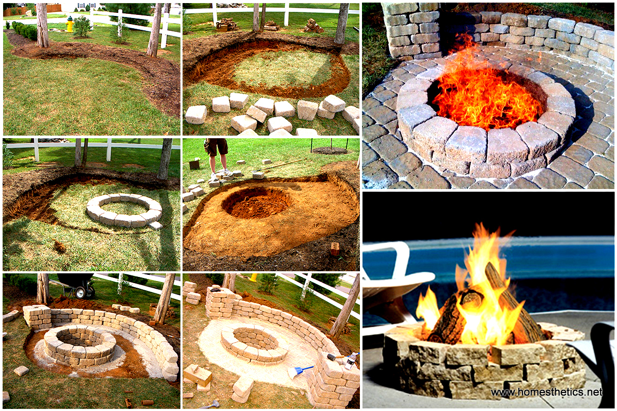 Creatively luxurious diy fire pit project here to enhance for Diy brick projects