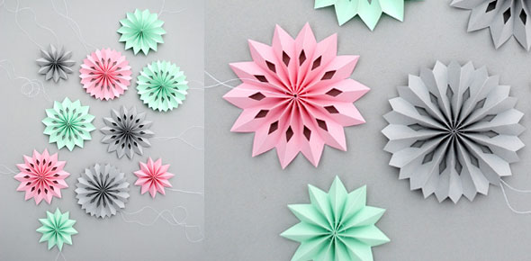 Diy Paper Medallions Miniaturized Diy Paper Snowflakes Here To