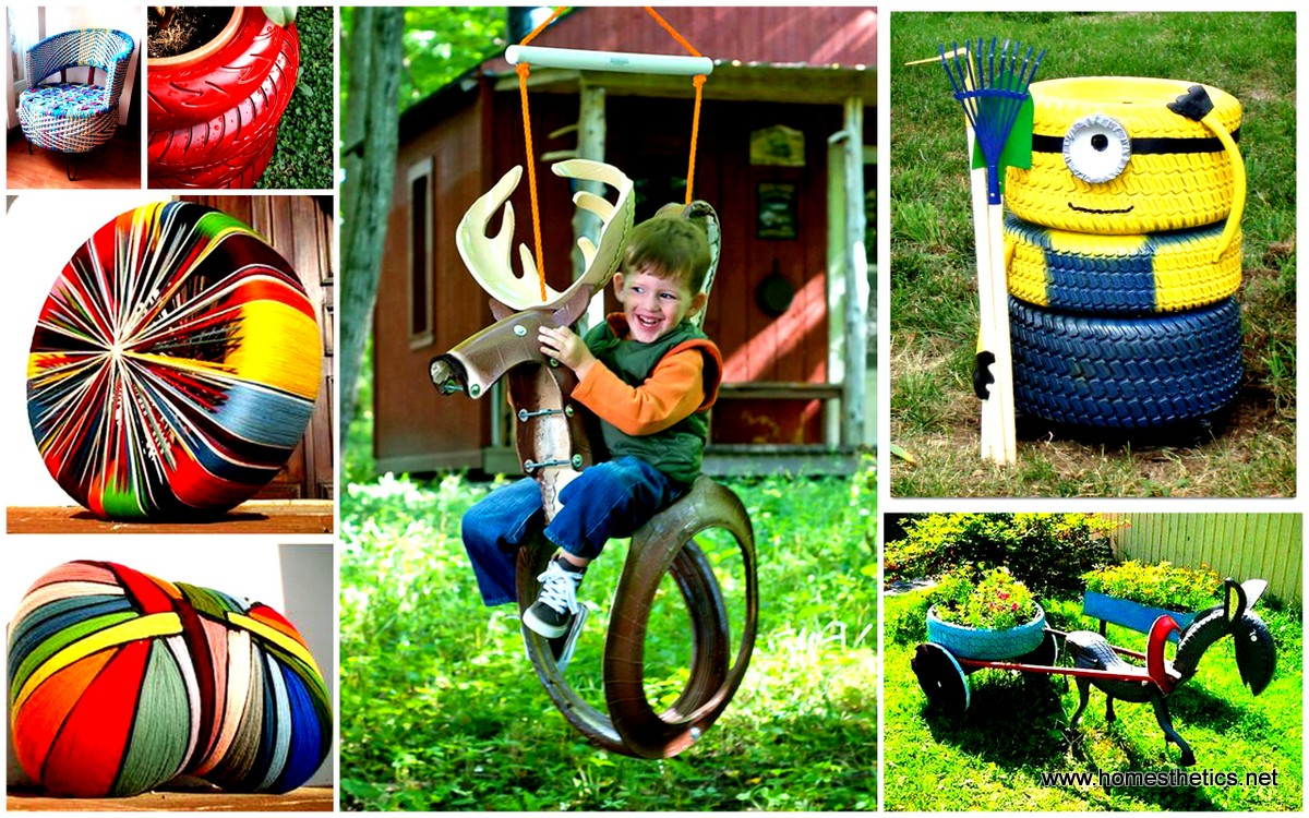 45 diy tire projects how to creatively upcycle and for Creative recycling projects