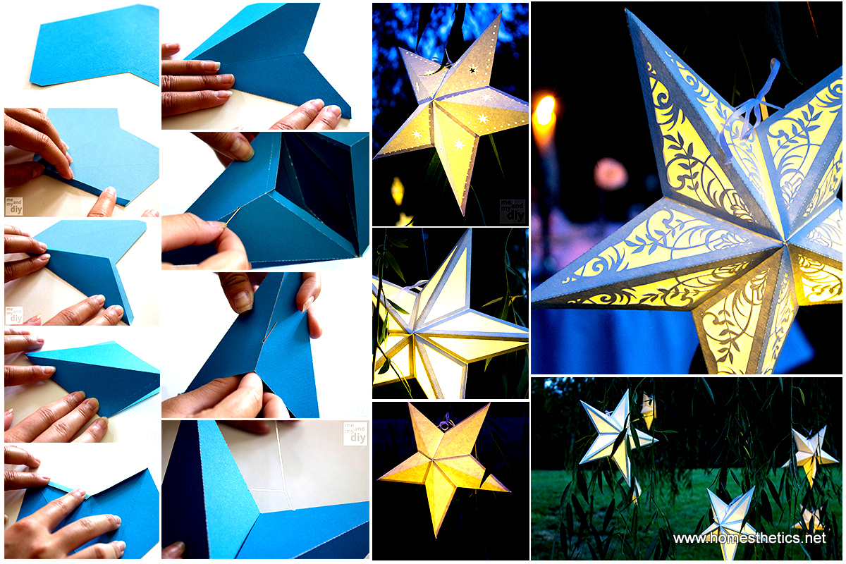 mindblowingly beautiful star shaped diy paper lanterns that will beautify your special moments. Black Bedroom Furniture Sets. Home Design Ideas