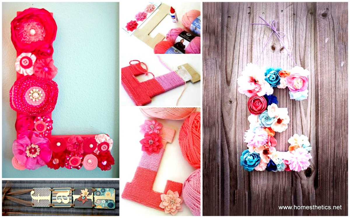 Simply extraordinary diy letter decor here to enhance the for Alphabet decoration