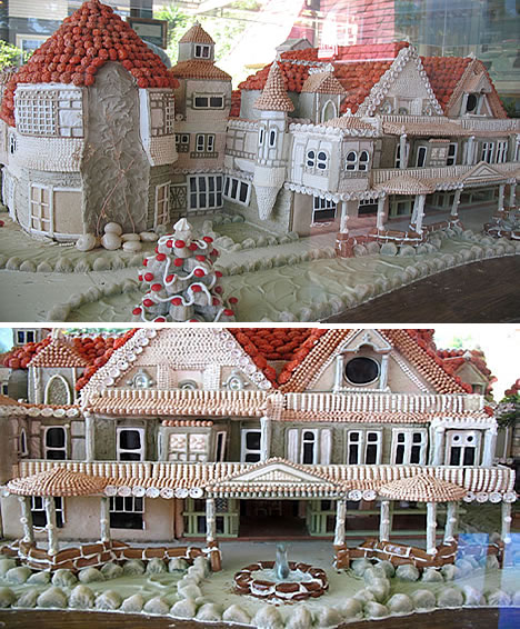Sweet Christmas Inspiration Served by Jaw Dropping DIY Gingerbread Houses homesthetics (21)