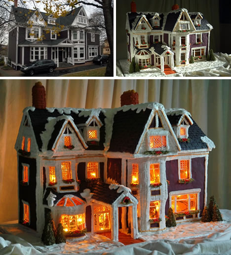 Sweet Christmas Inspiration Served by Jaw Dropping DIY Gingerbread Houses homesthetics (23)