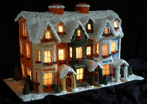 Sweet Christmas Inspiration Served by Jaw Dropping DIY Gingerbread Houses homesthetics (24)