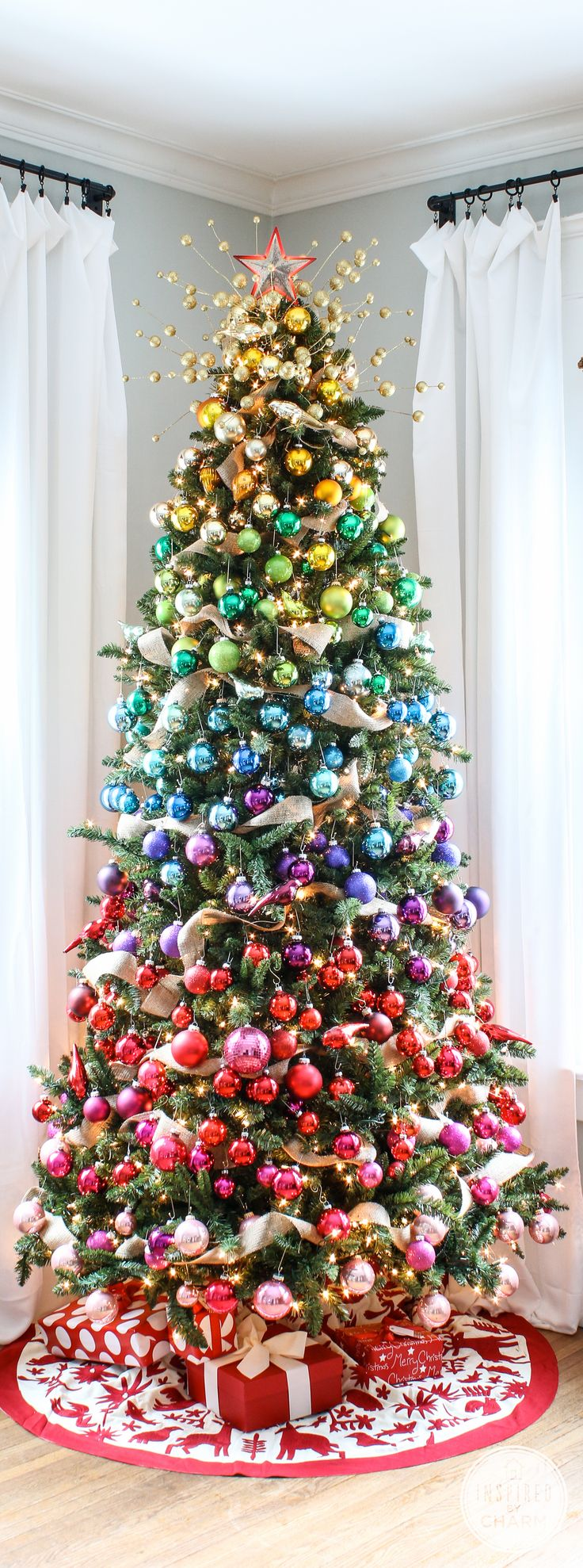 Colorful Christmas Tree Images.The Most Colorful And Sweet Christmas Trees And Decorations