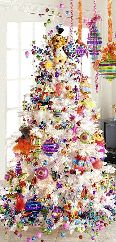 the most colorful christmas trees and decorations you have ever seen homesthetics 9