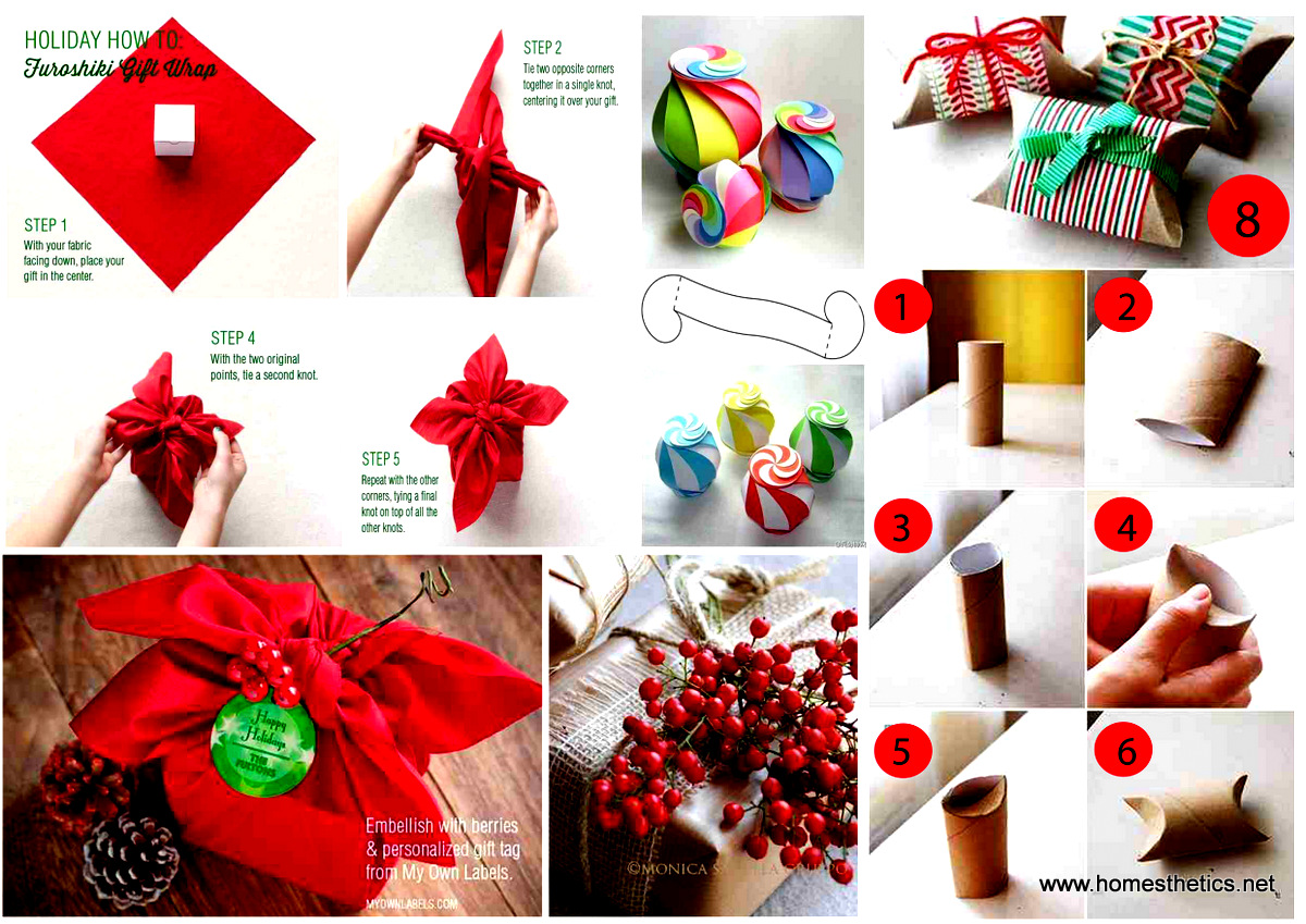 Beautiful Christmas Gift Wrapping Tutorials [Christmas Gift Wrap ...