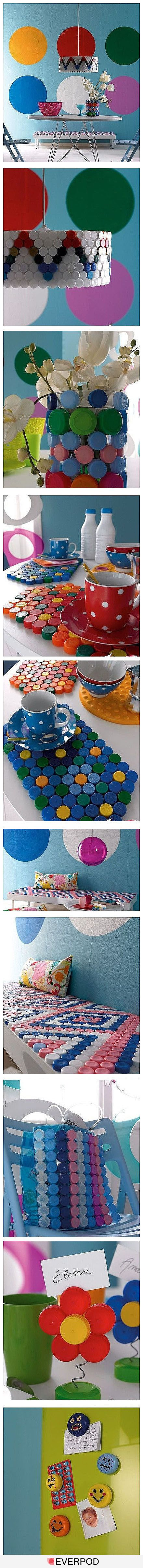 creative bottle caps crafts and projects-homesthetics (20)