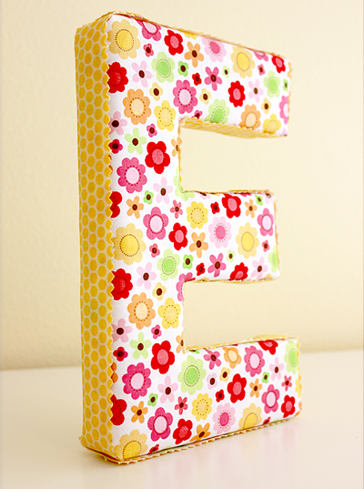 fabric-covered-letters