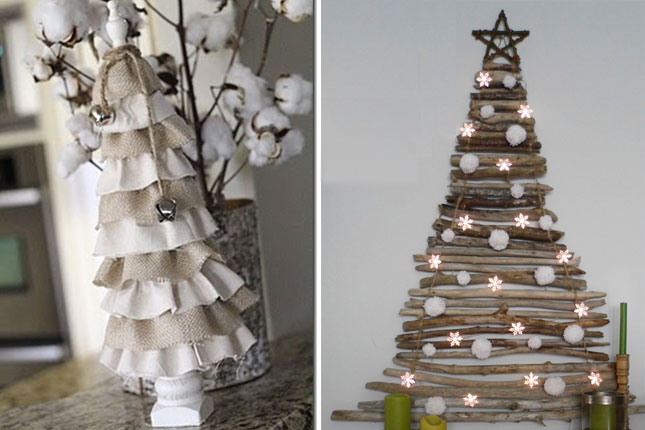 1 40 creative and inspiring ideas for a diy non traditional christmas tree project homesthetics - Non Traditional Christmas Trees