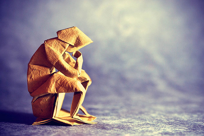 The Thinker Origami Art