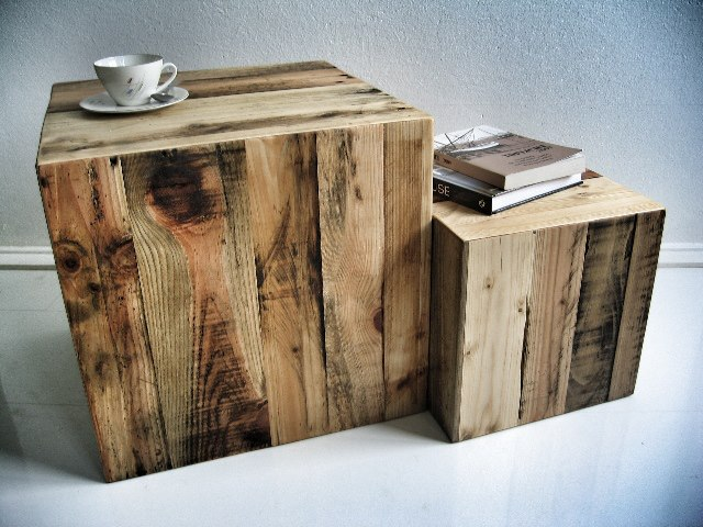Square Side Table and Coffee Table From Wooden Pallets