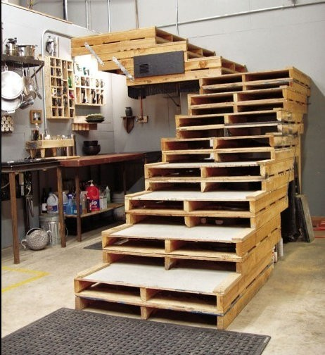 Delightful Wooden Pallets Staircase
