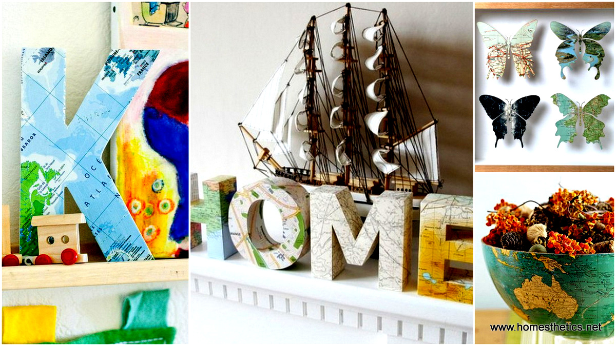 25 DIY Maps Decorations For Your Home That Will Make You Want To Travel  Some More