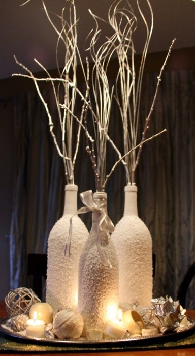 31 Beautiful Wine Bottles Centerpieces For Any Table Hometshetics 11