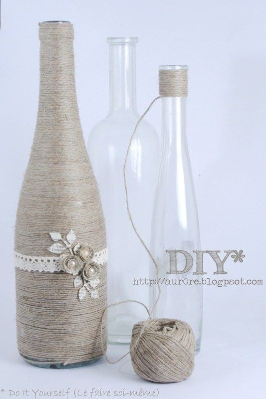 Wine Bottle Decorations Diy Amusing 40 Diy Wine Bottle Projects And Ideas You Should Definitely Try Decorating Inspiration
