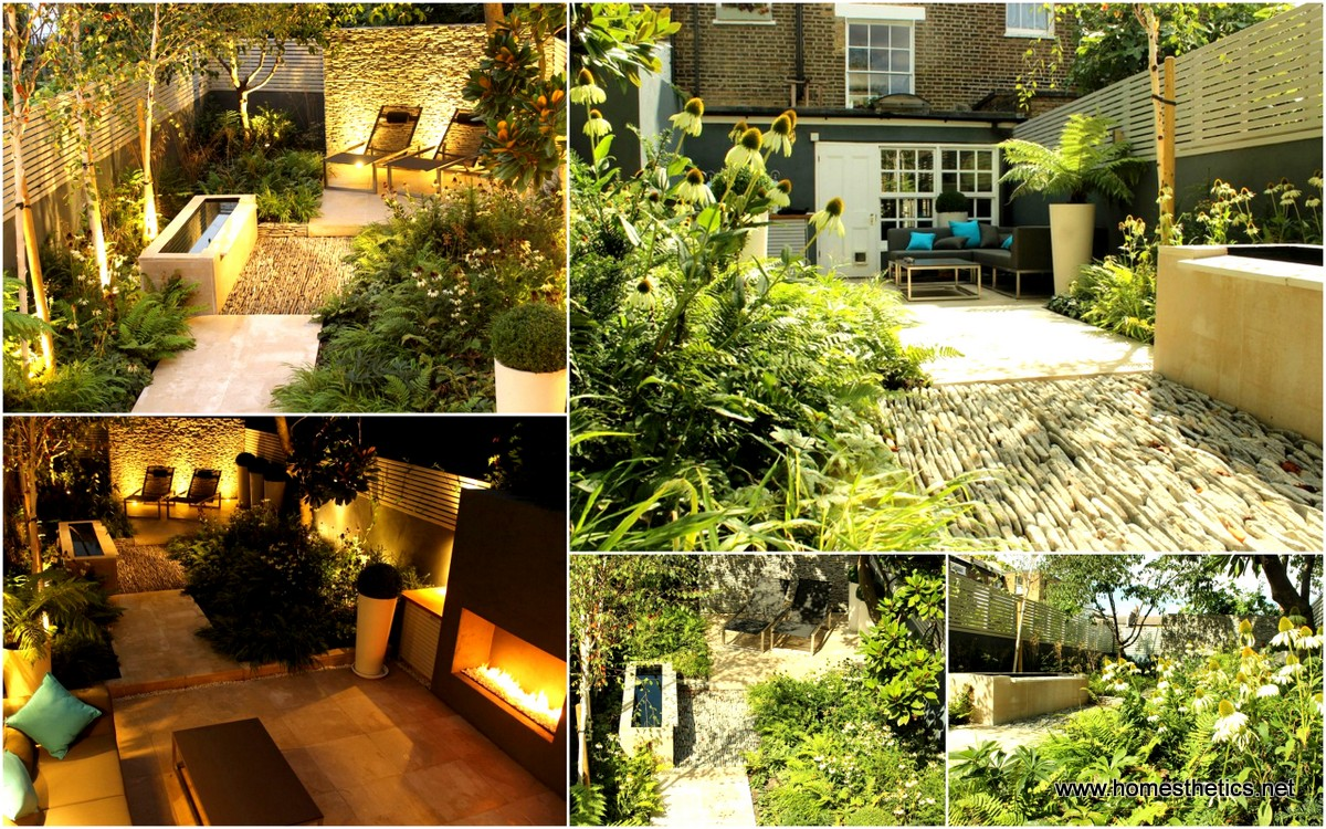 Great Small Backyard Landscaping Ideas Dense Greenery Complemented By A Rock  Texture The Barnsbury Townhouse Garden