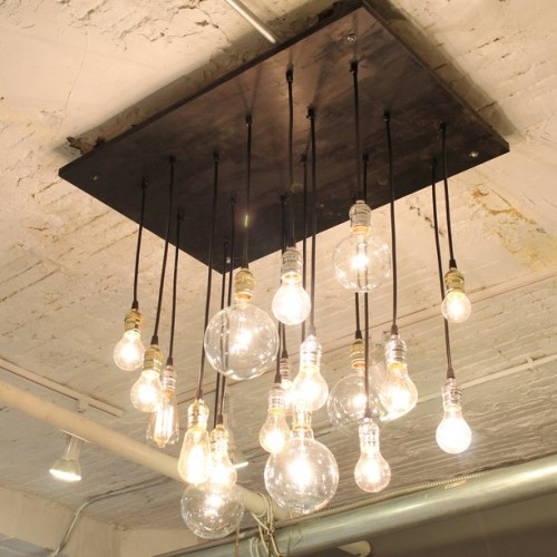 Beautiful vintage electic lamps composed out of lightbulbs homesthetics (10)