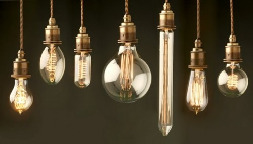 Beautiful vintage electic lamps composed out of lightbulbs homesthetics (17)