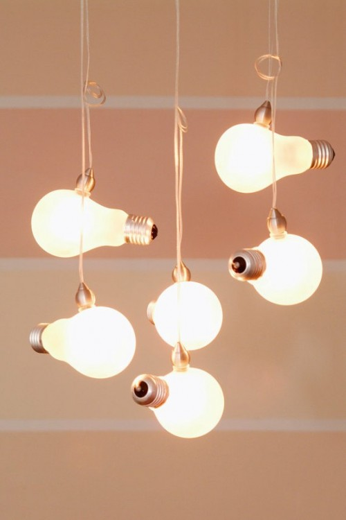 Beautiful vintage electic lamps composed out of lightbulbs homesthetics (18)
