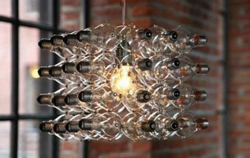 Beautiful vintage electic lamps composed out of lightbulbs homesthetics (19)