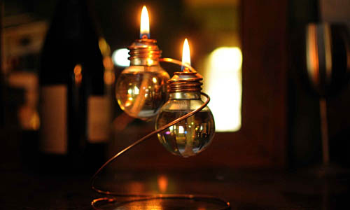 Beautiful vintage electic lamps composed out of lightbulbs homesthetics (22)