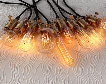 Beautiful vintage electic lamps composed out of lightbulbs homesthetics (24)