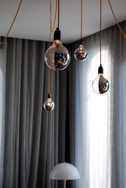Beautiful vintage electic lamps composed out of lightbulbs homesthetics (6)