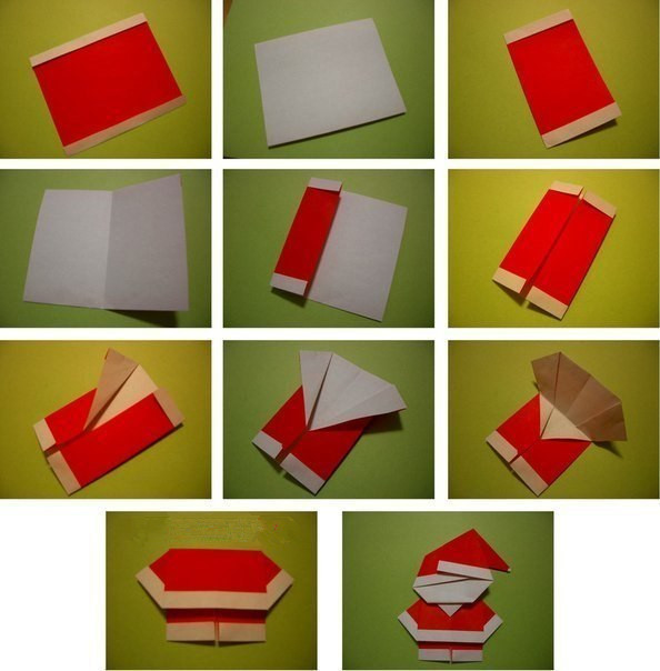 Create Extremely Cheerful DIY Origami Santa Claus For Your Decor or as Gifts 0 (4)