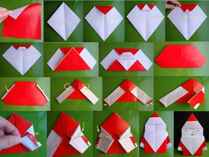 Create Extremely Cheerful DIY Origami Santa Claus For Your Decor or as Gifts