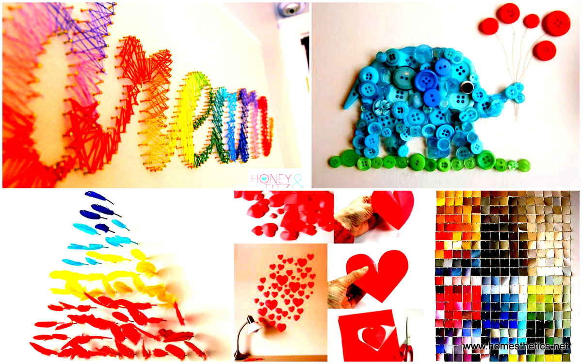 37 mind blowingly beautiful diy wall art projects that for Art and craft ideas for decoration