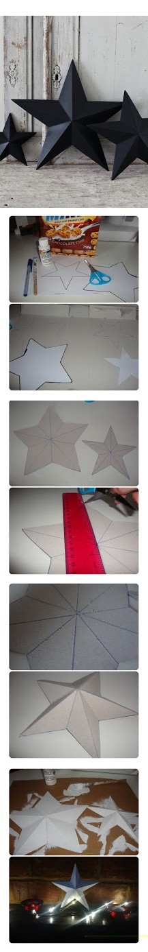DIY Paper Art Projects - Learn How to Make 3D Paper Stars [Video Tutorial Included] homesthetics (10)