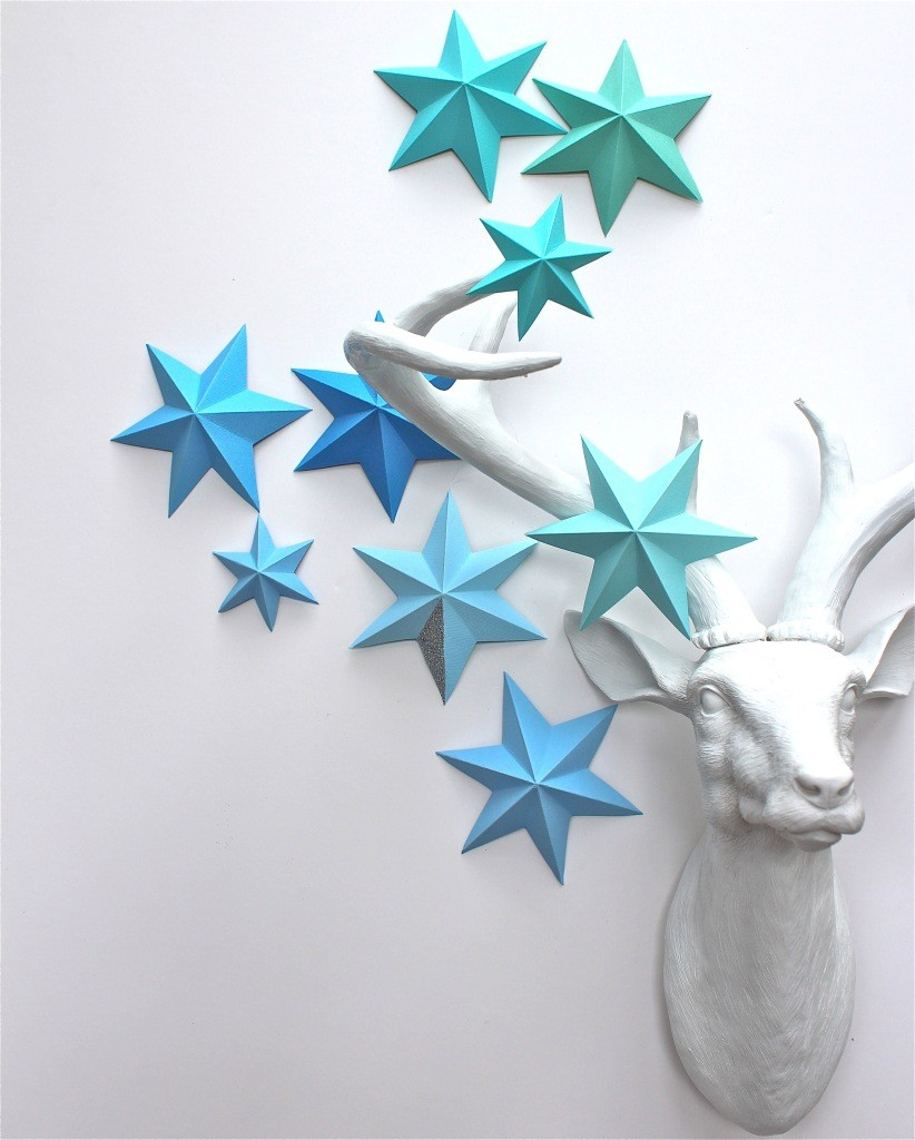 DIY Paper Art Projects - Learn How to Make 3D Paper Stars [Video Tutorial Included] homesthetics (12)