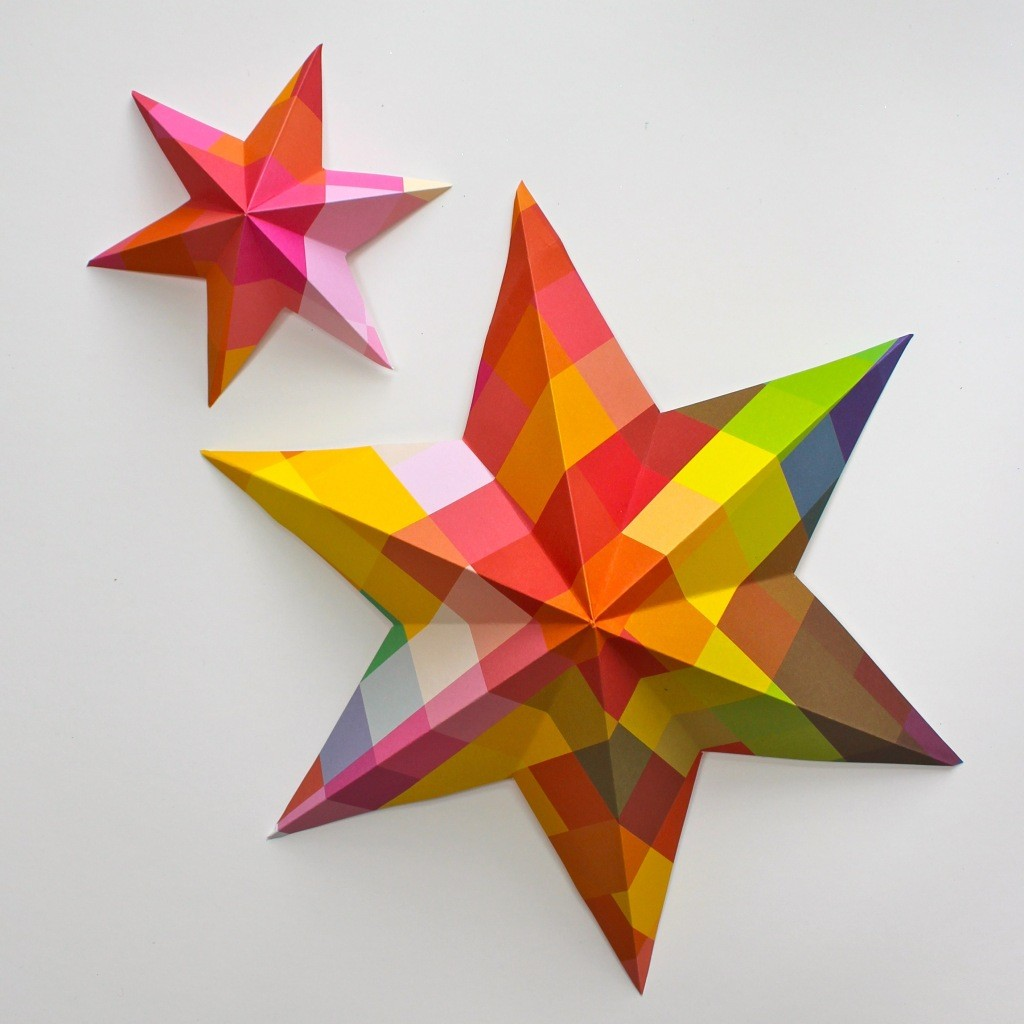 DIY Paper Art Projects - Learn How to Make 3D Paper Stars [Video Tutorial Included] homesthetics (17)