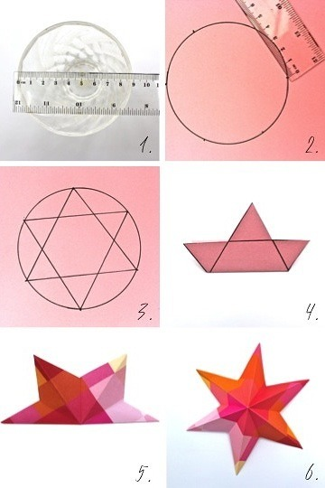 DIY Paper Art Projects - Learn How to Make 3D Paper Stars [Video Tutorial Included] homesthetics (18)