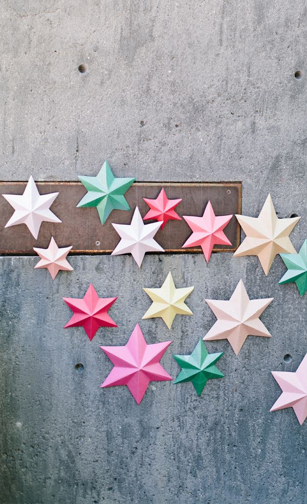 DIY Paper Art Projects - Learn How to Make 3D Paper Stars [Video Tutorial Included] homesthetics (9)