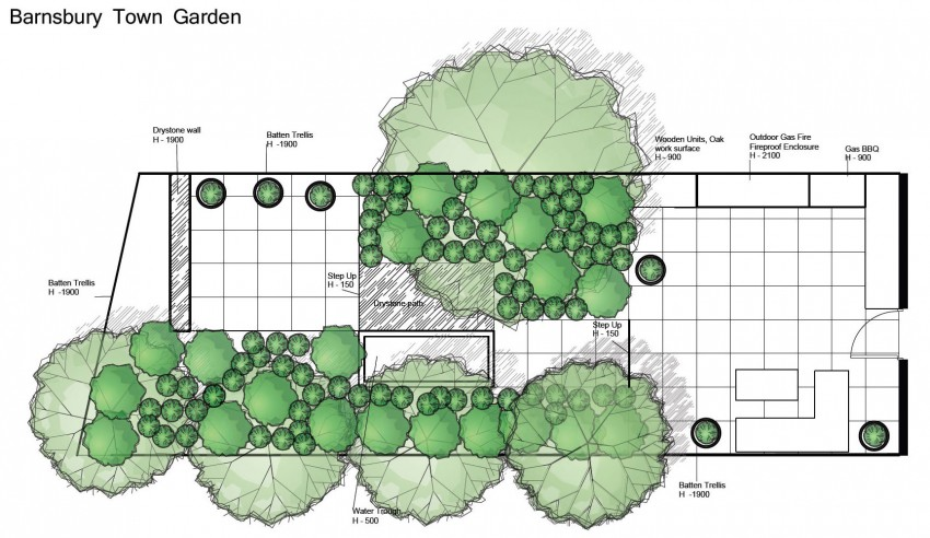 Dense Greenery Complemented by a Rock Texture-Barnsbury Townhouse Garden by Daniel Shea homesthetics (11)
